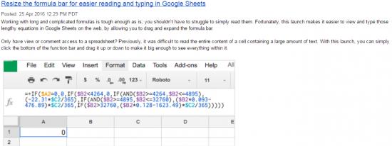 Expand Formula Bar in Sheets