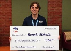 Ronnie Mehelic IT Employee Excellence Award Winner