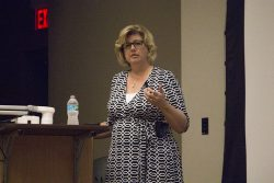 Ms. Sheryl Bunton, CIO of Gulfstream, Delivering the Keynote